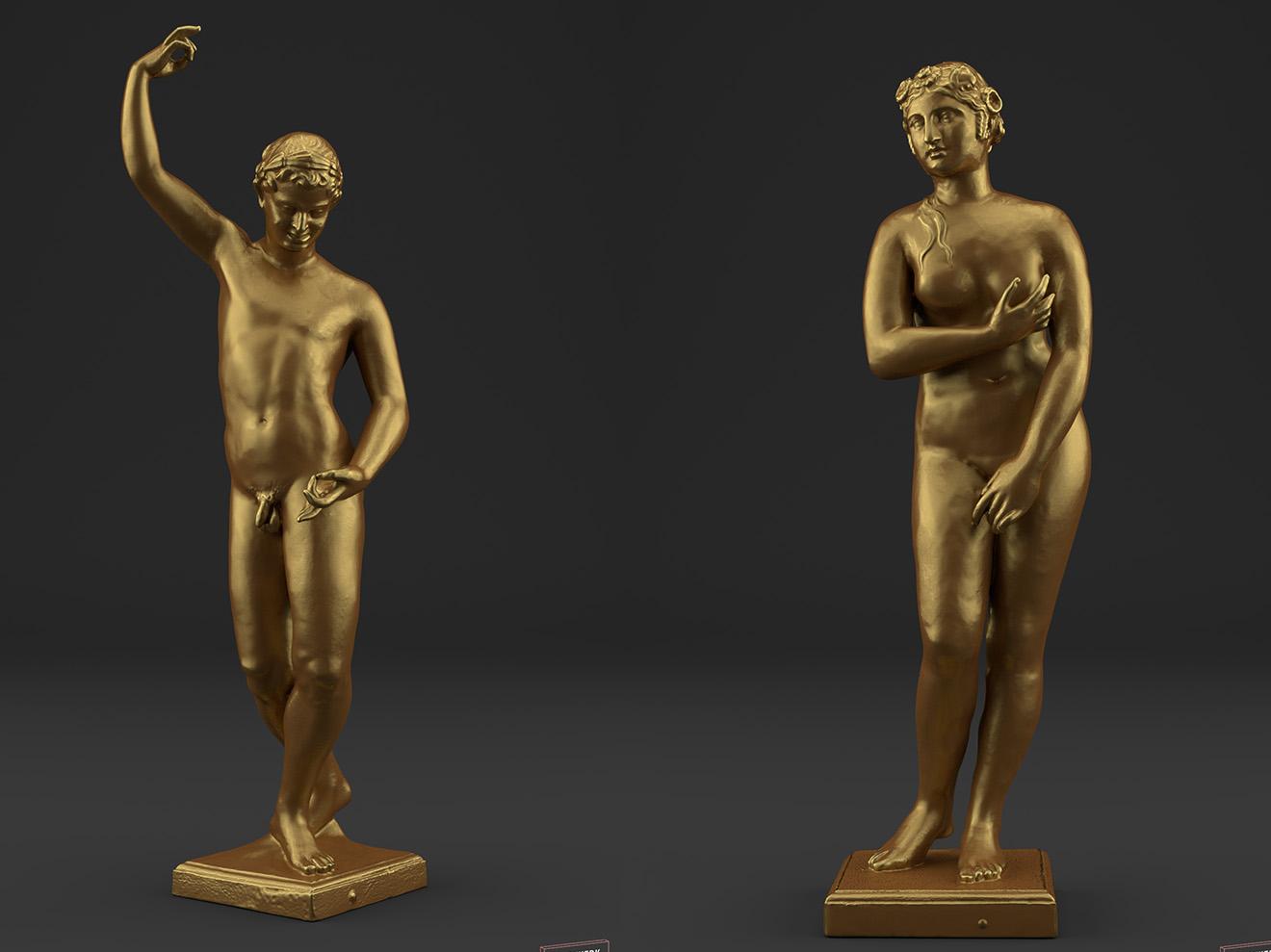 goldene Figuren aus dem Garten Herrenhausen