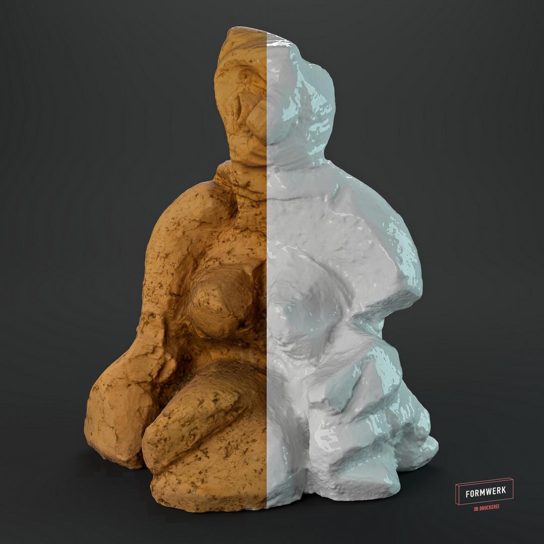 Von Schamotte zu Pixeln – 3D Scan für Künstler